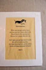 New! Veterinarian Poem Matted Print, Gift - Appreciation Thank You