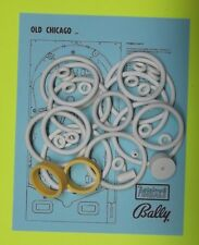 1976 Bally Old Chicago pinball rubber ring kit
