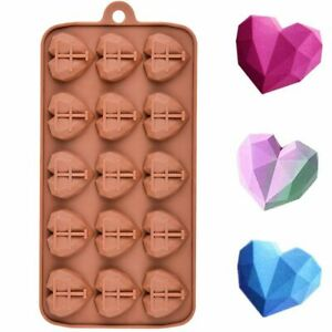 15 Cavities Mini Heart Chocolate Mold Silicone Candy Molds Gummy Jelly Mould H