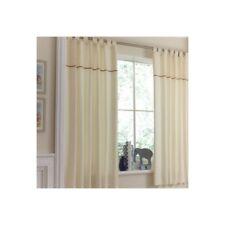 Brand New Izziwotnot Cream Gift Tab Top Curtains