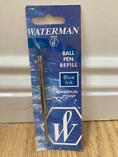 Waterman Ballpoint Ball Pen Refill - Blue  MEDIUM Point
