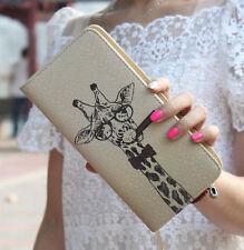 New Cute Giraffe Wallet Clutch Checkbook Coin Bag Women Purse Ladies Handbag