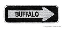ONE-WAY SIGN PATCH - BUFFALO NEW YORK EMBROIDERED iron-on TRAVEL EMBLEM APPLIQUE