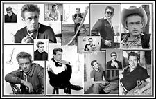 James Dean, Signed, Collage Cotton Canvas Image. Limited Edition (JD-4)