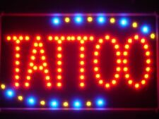 led007-r Tattoo Ship OPEN LED Business Neon Light Sign