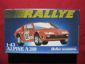 Alpine A 310 1:43 Heller Plastic Model Kit Car Humbrol Rally Rallye Vintage