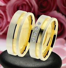 2 Trauring Eheringe Verlobungsringe  GOLD PLATIERT * J226-4