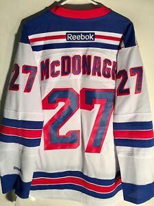 Reebok Premier NHL Jersey New York Rangers Ryan McDonagh White sz M
