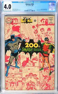 D690 BATMAN #200 DC Comics CGC 4.0 VG (1968) 1st work on 'Batman' by Neal Adams