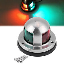 Boat Marine LED Transom Navigation Stern Anchor Light Red + Green Warning Lamp
