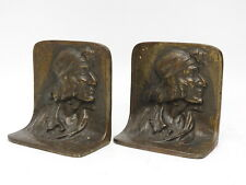 Cast Iron BOOKENDS GERONIMO Apache Warrior AMERICAN INDIAN