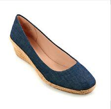 New Women's Easy Spirit Esdellina Espadrille-Inspired Wedge Shoes》11 Medium
