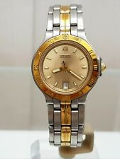 TITAN Ladies Watch Sapphire crystal Two tone gold plated Luminouse RRP £149 (32