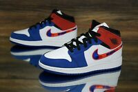 Air Jordan 1 Mid SE (GS) White Red Blue BQ6931-146 Kid's Shoes Multi Size NEW