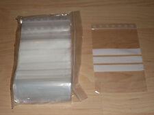 100 Tütchen Polybeutel 100 x 150 Druckverschlussbeutel mit Stempelfeld Zip Tüten