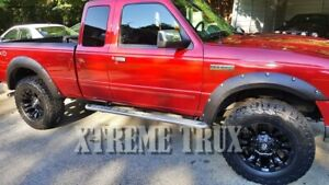 Textured Black 93-11 Ford Ranger Pocket Rivet Fender Flares Bolt On No Drill Set