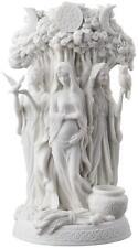 Danu Celtic Irish Triple Goddess Statue Sculpture White UNIQUE HOME DECOR