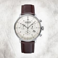 Reloj Junkers de Caballero Cuarzo Cronógrafo Bauhaus 6086-5 Correa cuero