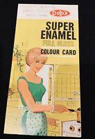Dulux enamel paint colour card brochure, c. 1950s Australia vintage mid-century
