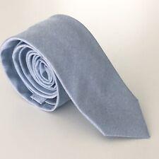 KRIS VAN ASSCHE Mens Sky Blue Neck Tie 100% Silk
