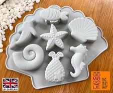 Sea Creature Shape Silicone Mould Wax Melt Mold Sea Horse Dolphin Fossil Cake