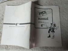 FAX VERSION 1  EXIDY    arcade game manual