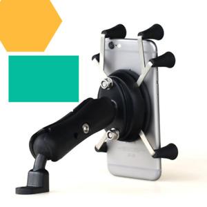 Motorcycle Bike Handlebar Rail Mount w/ X-Grip Holder for Smart Cell Phone New