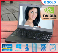 Dell Precision M4700 i7 @ 3.7Ghz 8Gb 750Gb NVIDIA K1000m Laptop FHD PROFESSIONAL