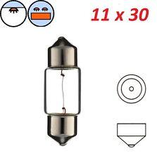 AMPOULE NAVETTE 12V 10W SV8.5 11 x 30 FEU ARRIERE STOP CLIGNOTANT PLAQUE LAMPE