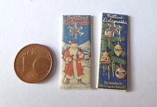 2x Lametta silber Weihnachten Tannenbaum Puppenstube Puppenhaus Miniatur 1:12