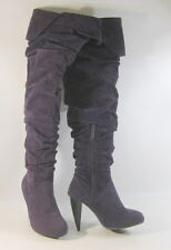 """Boot 4"""" High Heel/Platform Round Toe Over Knee Sexy Boots Size 5"""