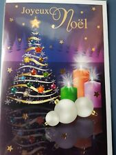 NEUF CARTE JOYEUX NOEL + ENVELOPPE !! 10 CARTES ACHETEES = PORT GRATUIT