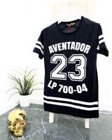 Oversize Basic T-Shirt Schwarz Weiß Herren Rundhals Kurzarm Aufdruck Slim NEU