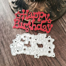 Brithday Metal Cutting Dies DIY Album Paper Card Embossing Craft Party Decor