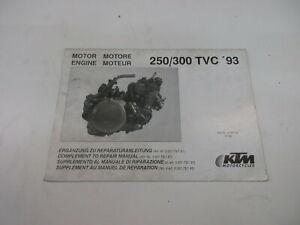 Ktm 250 300 Tvc 1993 Catálogo de Piezas de Repuesto Motor Manual Complemento