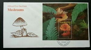[SJ] Antigua & Barbuda Seashell & Mushroom 1999 Plant Flora Shell Fungi (FDC)
