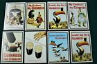 """Eight GUINNESS Beer Vintage Advertising Postcard 4""""x 6"""" """"Purchased Ireland 1980"""""""