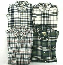 Lot of 4 Eddie Bauer Men's S Long Sleeve Plaid Button Down Dress Casual Shirts