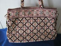 Vera Bradley Tie Tote MEDALLION Shoulder Bag PURSE 10 x 13 x 4.5 EUC
