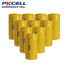 10 x  C Size 1.2V 3000mAh Ni-Cd NiCd Rechargeable Batteries Flat Top PKCELL