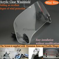 Motorcycle Adjustable Acrylic Windscreen Spoiler Windshield Wind Air Deflector