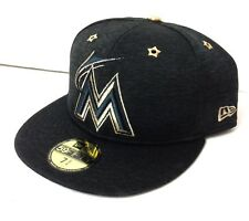 new style 1718b 54dba  38 FITTED 73 4 New Era MIAMI MARLINS METALLIC GOLD SHIMMER HAT All Star Men