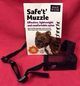 Dog Muzzle Size 10 PADDED Staffordshire Bull Terrier Padded Nylon 30Cm  STAFF