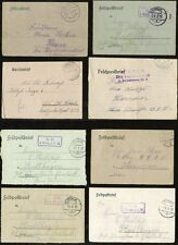 GERMANY WW1 MILITARY...8 ITEMS...FELDPOST LETTERCARDS...VARIOUS MARKINGS