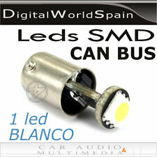 2 BOMBILLAS T10 1 LED SMD BLANCO ADAPTABLES CAN BUS