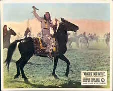 APACHES LAST BATTLE WINNETOU PIERRE BRICE ON HORSE ORIGINAL LOBBY CARD