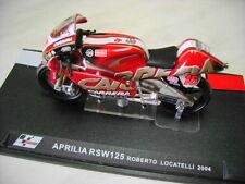 """MODELLINO APRILIA RSW125 """"ROBERTO LOCATELLI"""" 2004 SCALA 1/24"""