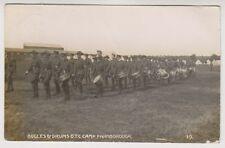 Hampshire postcard - Bugles & Drums, O.T.C Camp, Farnborough, Aldershot - RP