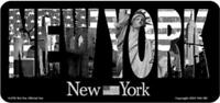 New York Schrift Skyline Liberty Metall Schild Plate 30 cm Souvenir