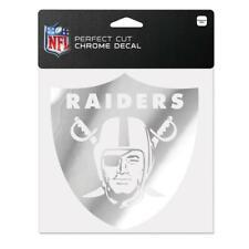"Oakland Raiders 6""x6"" Chrome Auto Decal [NEW] NFL Car Emblem Sticker Wincraft"